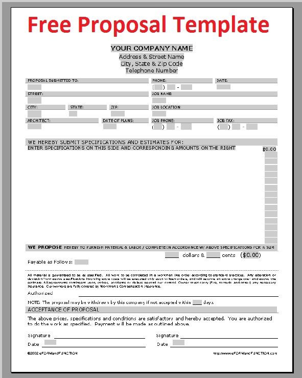 Roofing Proposal Forms Pdf Beautiful Printable Sample Construction Proposal Template Form