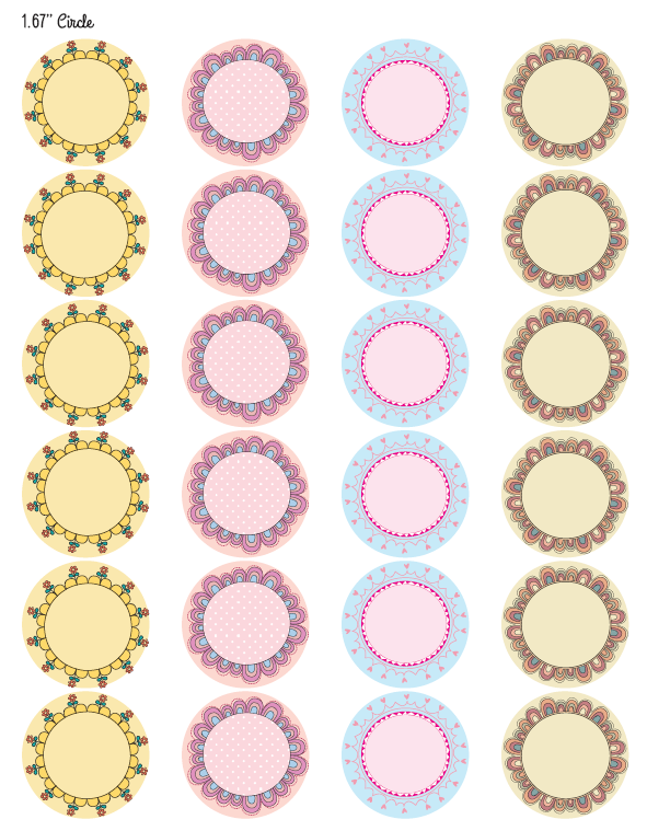 Printable Round Label Templates