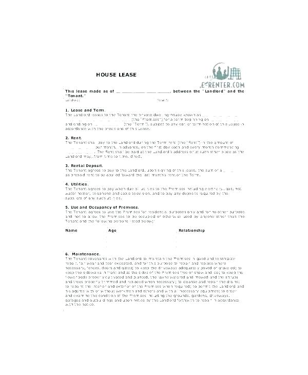 Printable Tenant Contract Template