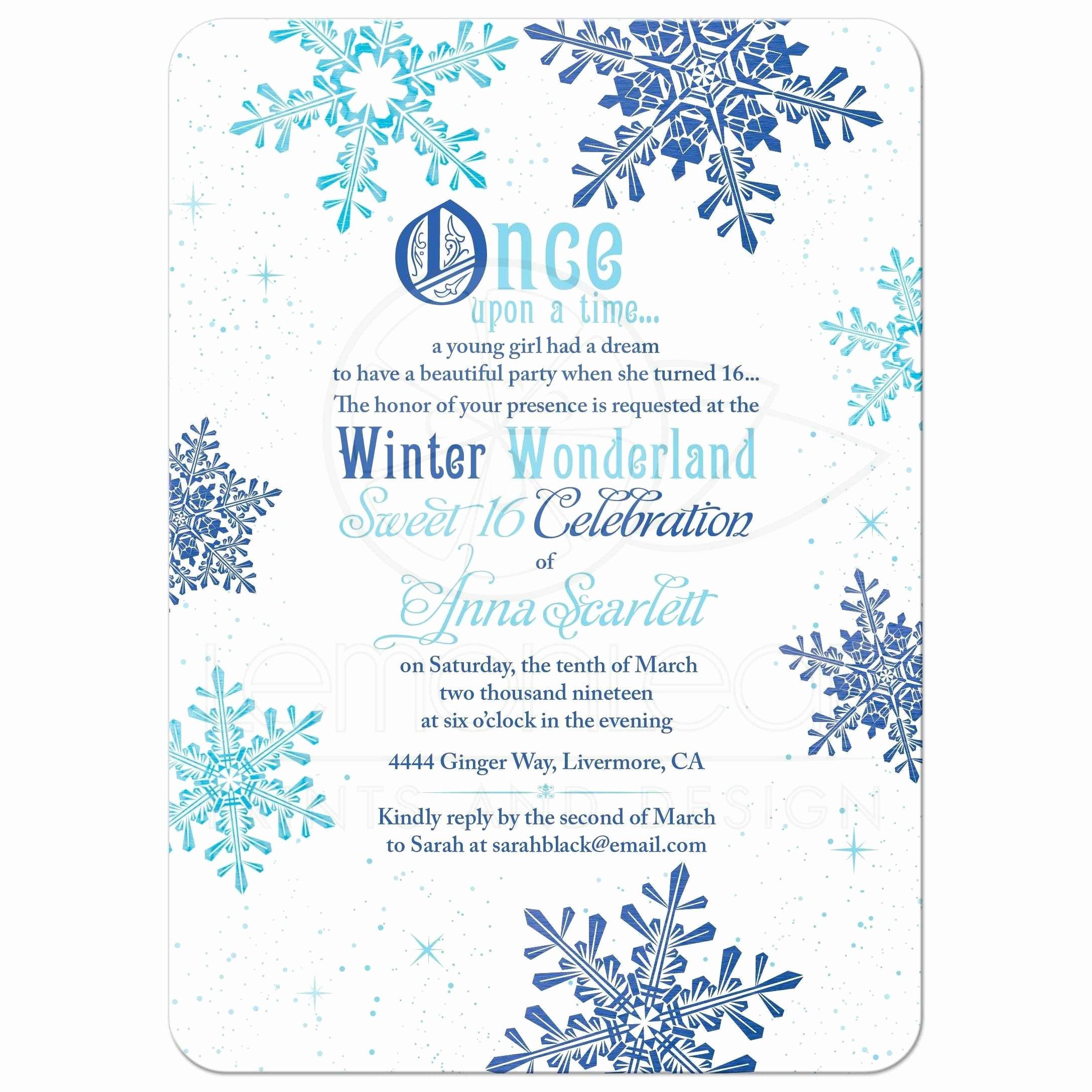 Printable Winter Wonderland Invitation Template Free