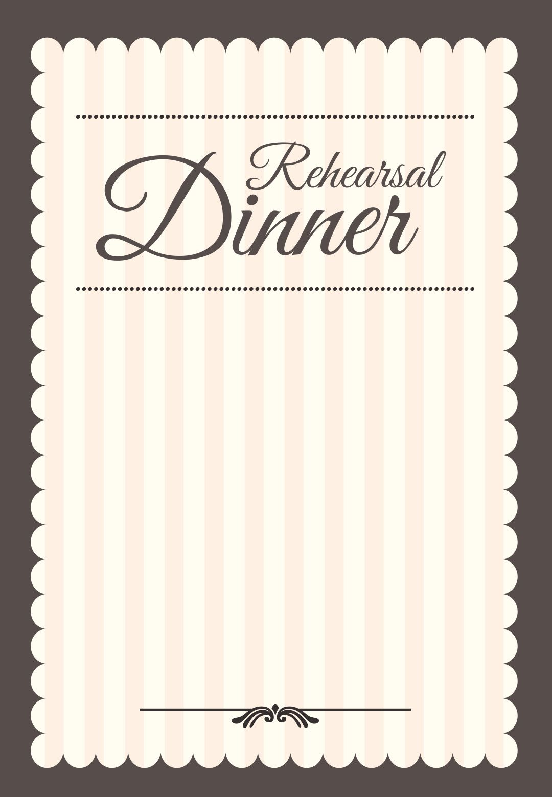 Progressive Dinner Invitation Template Free