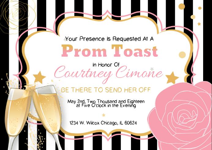 Prom Invitation Template