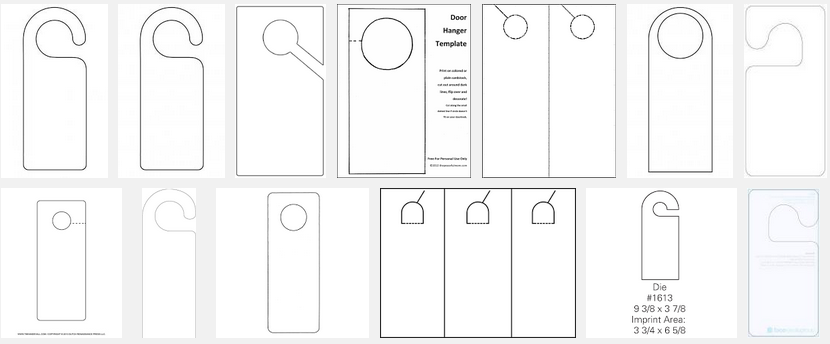 Publisher Door Hanger Template