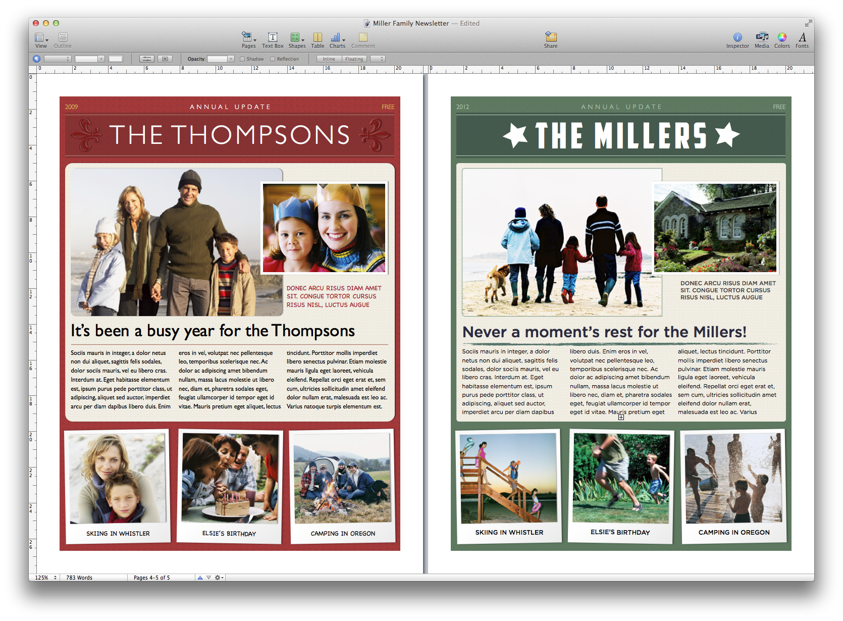 Publisher Free Christmas Newsletter Templates