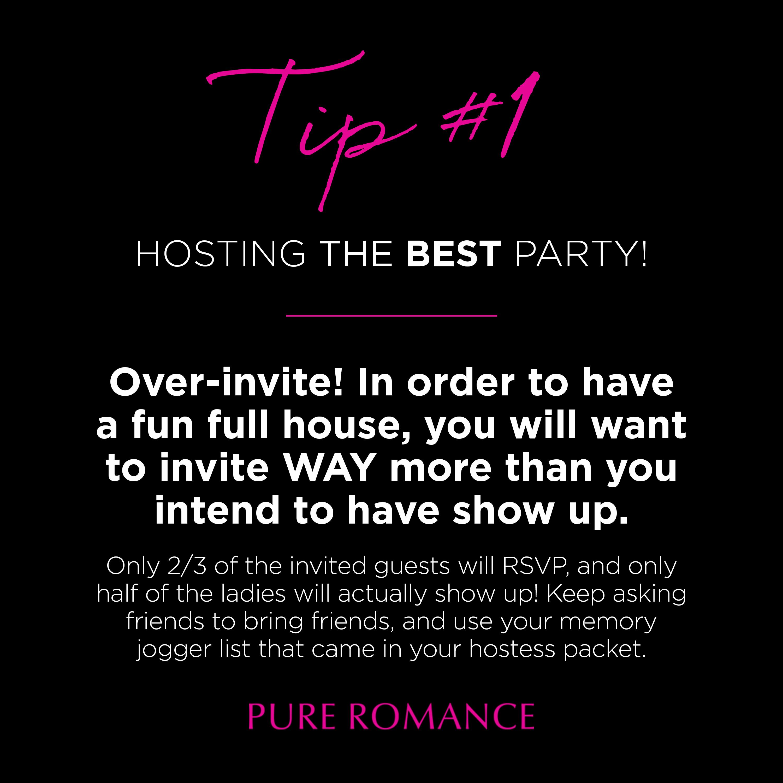 Pure Romance Party Invitation Template