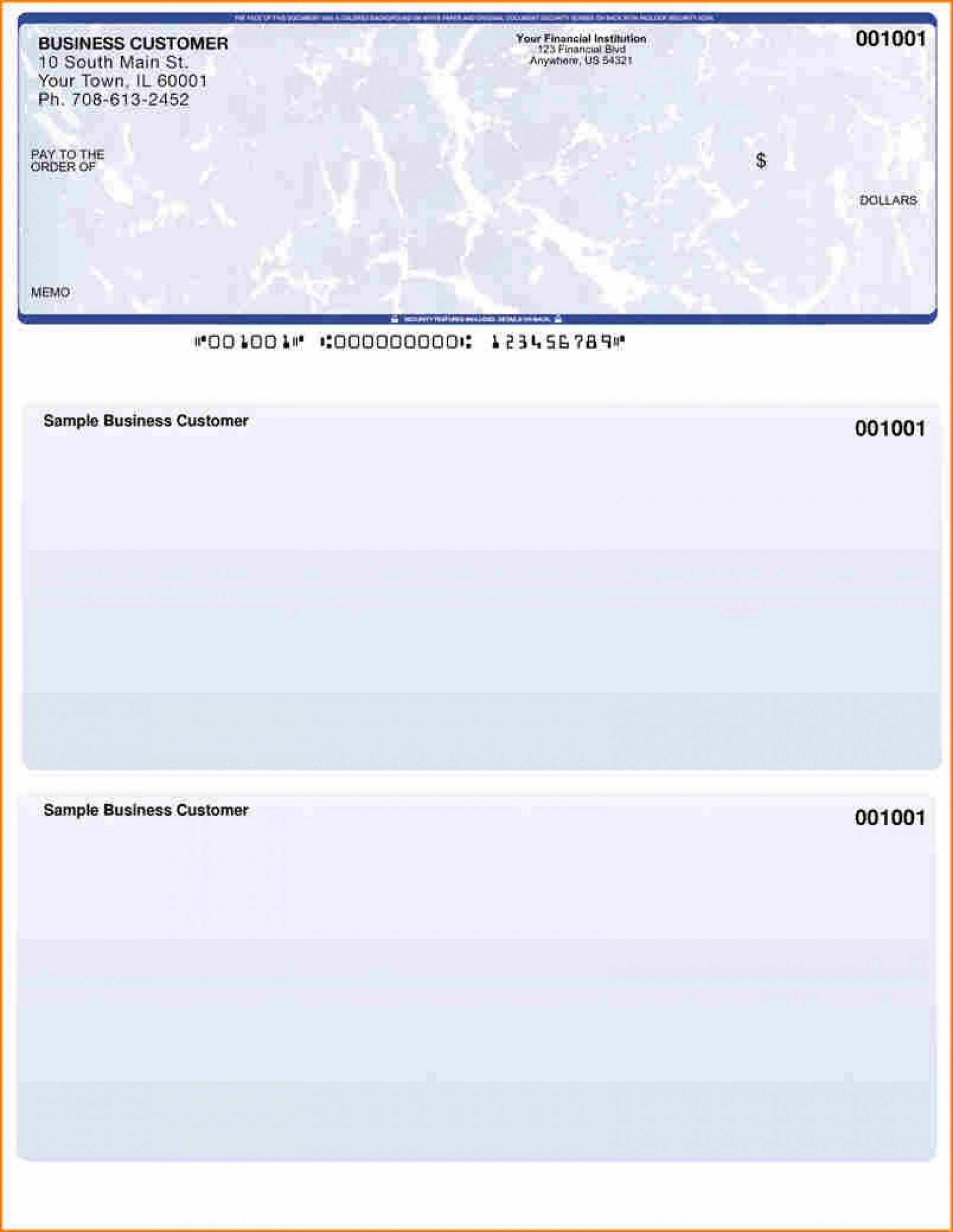 Quickbooks Check Template Word