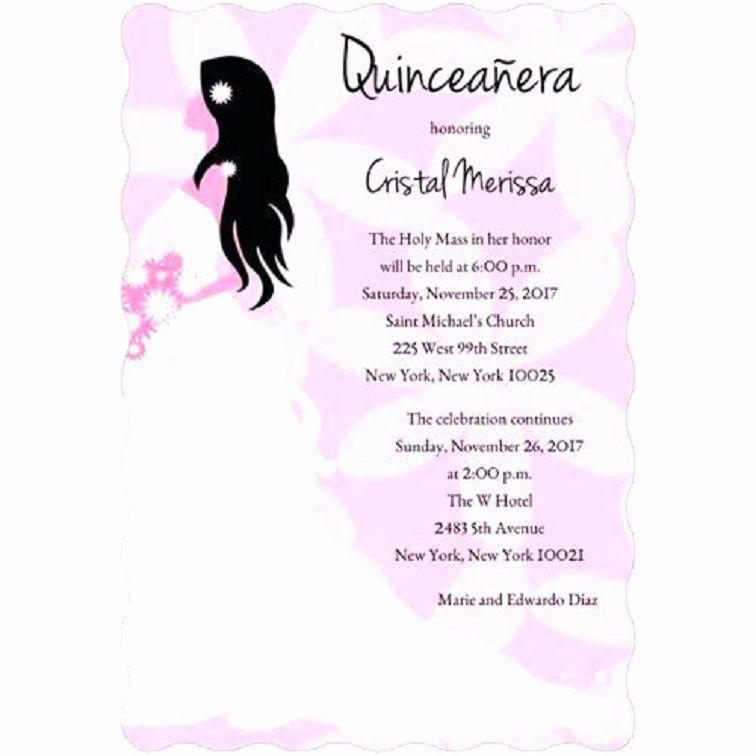 Quinceanera Invitations Templates In Spanish
