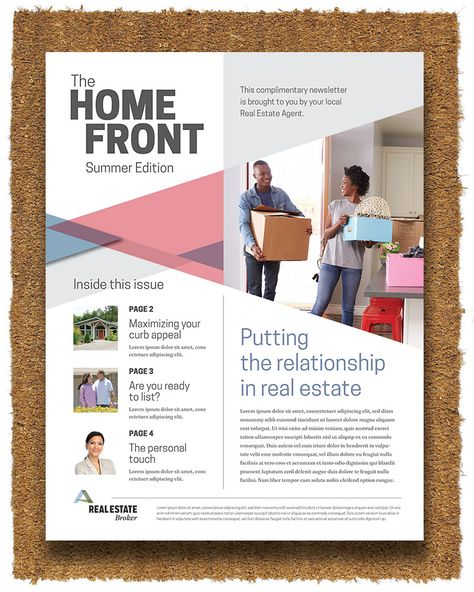 Realtor Real Estate Newsletter Templates