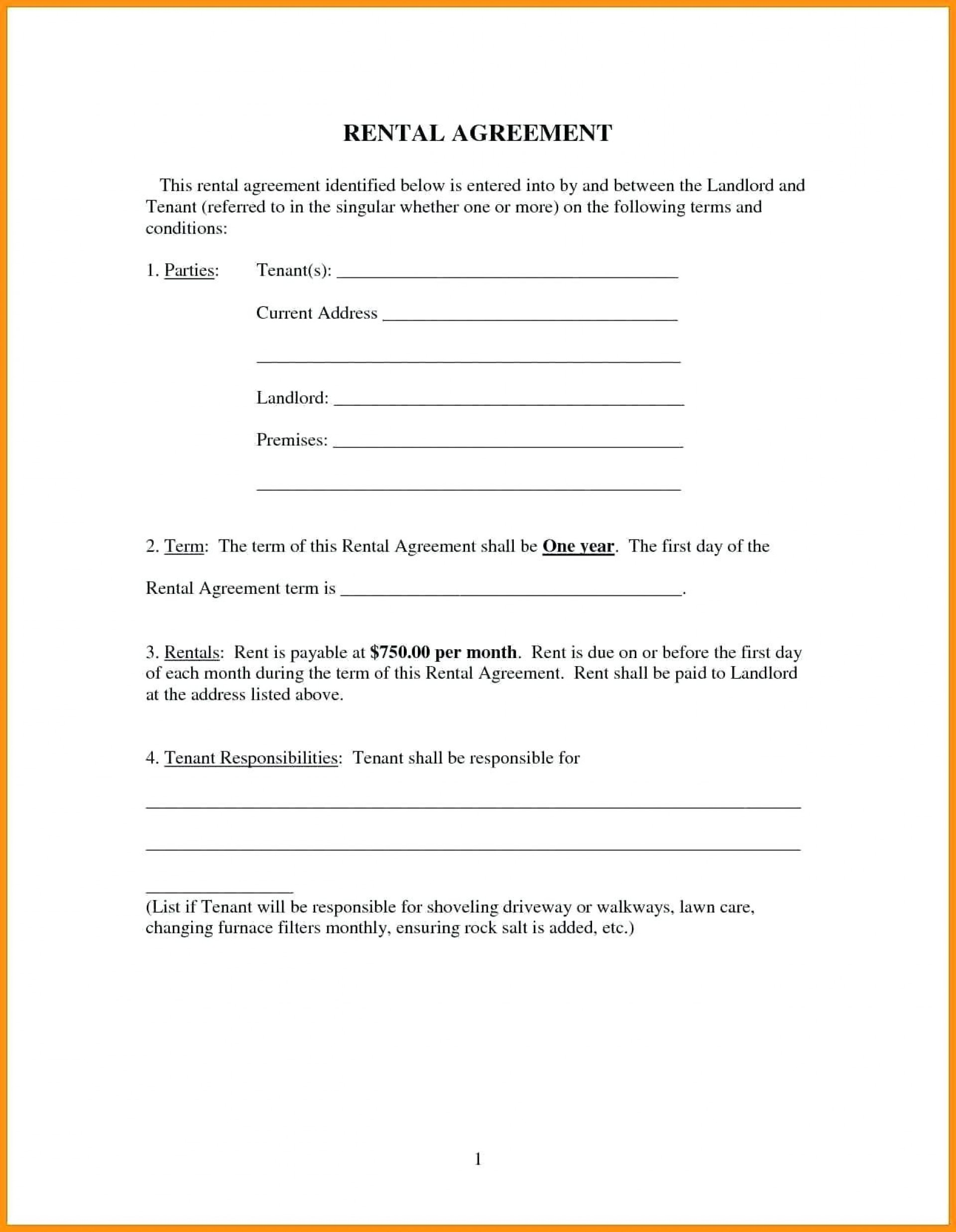 Rental Agreements Template