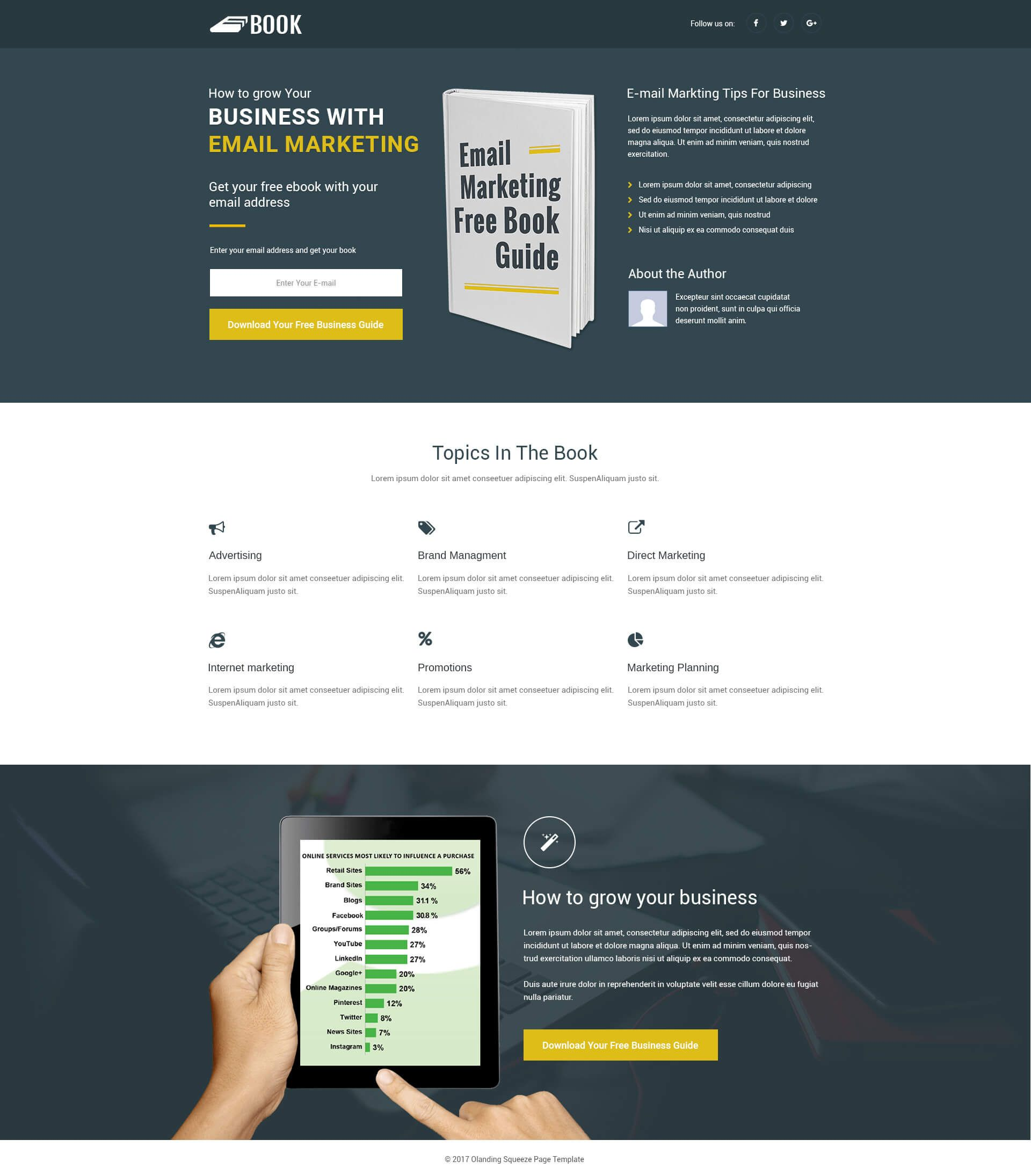 Responsive Squeeze Page Template