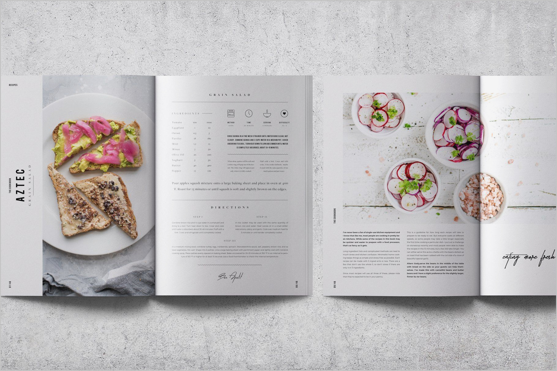 Restaurant Recipe Book Template