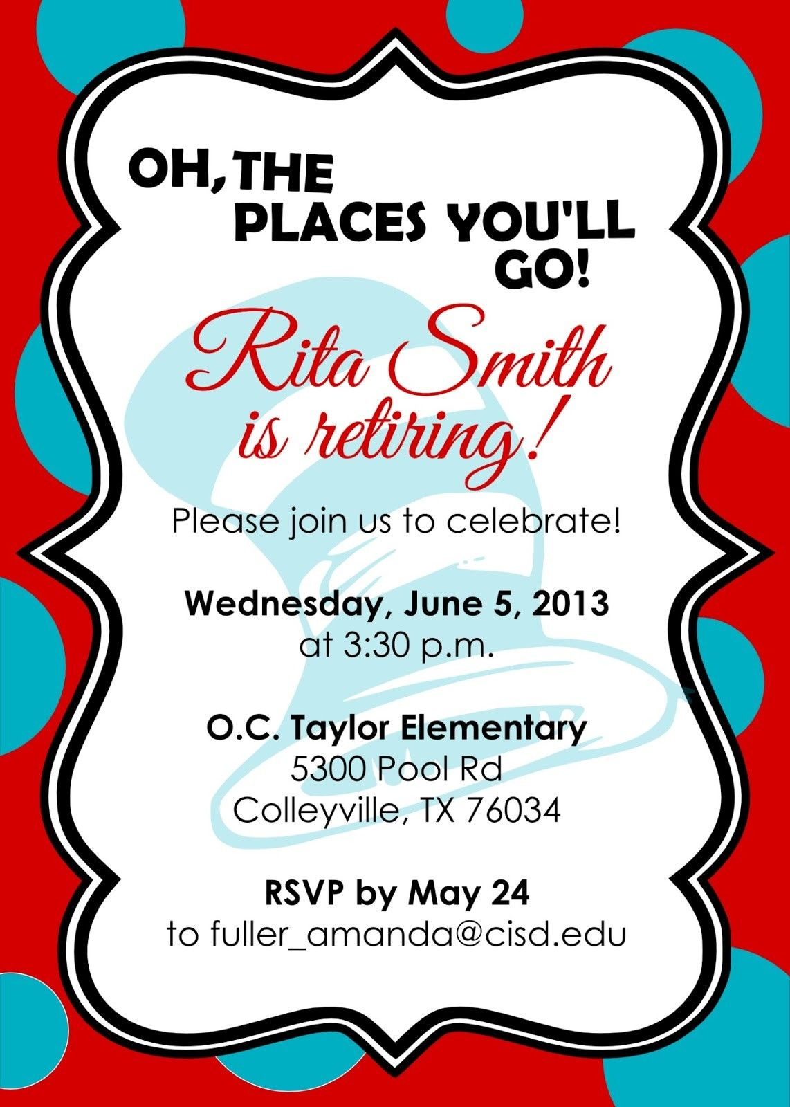 Retirement Party Invite Free Template