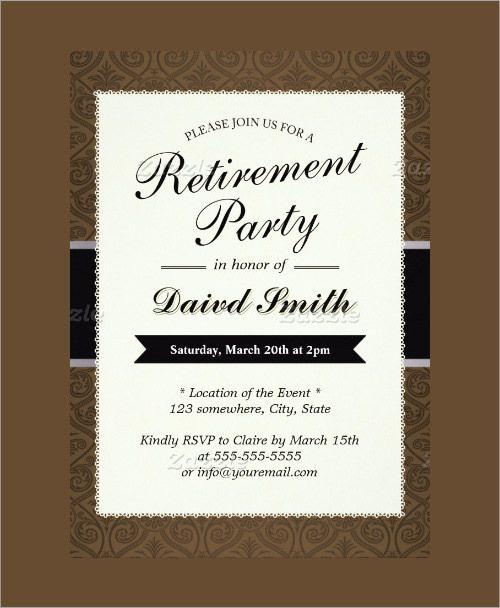 Retirement Party Templates