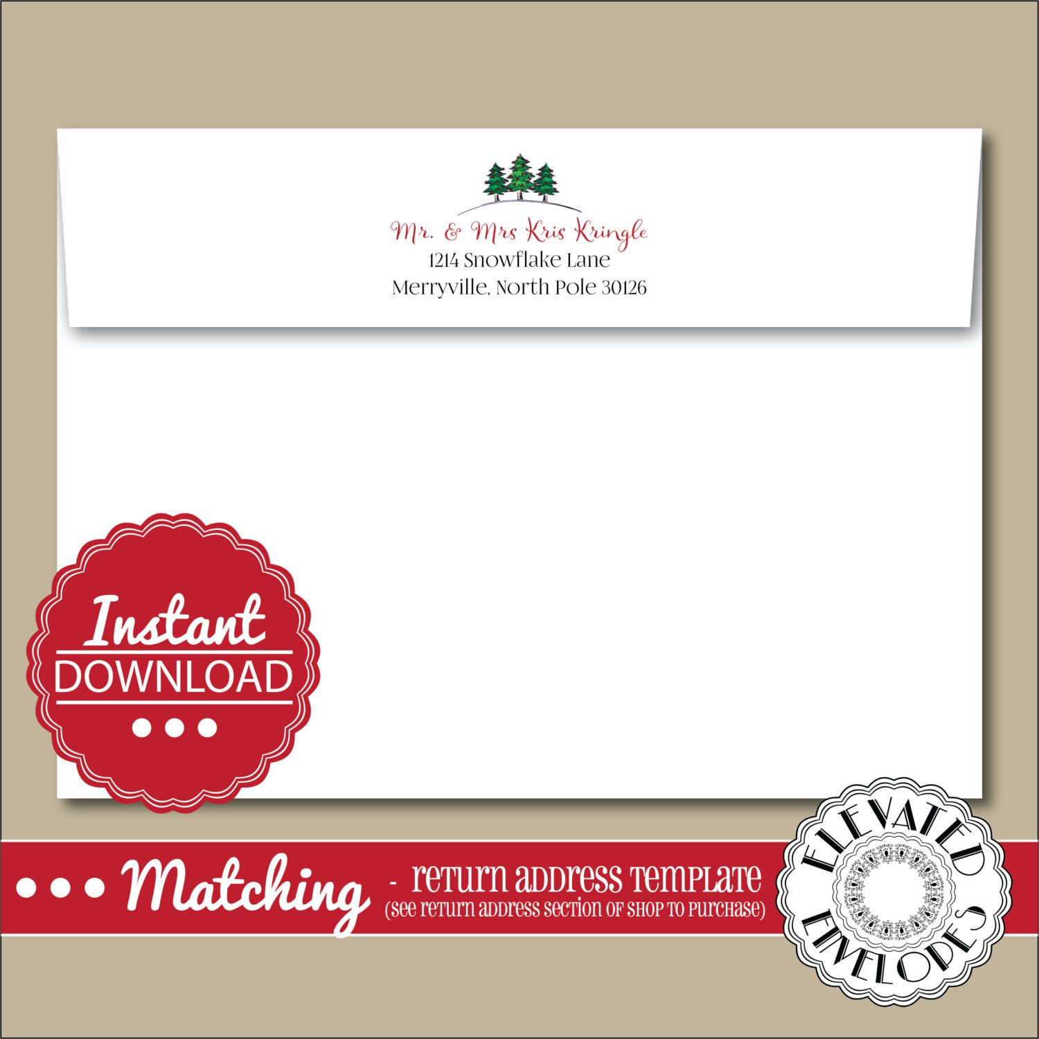 Return Address Envelope Template