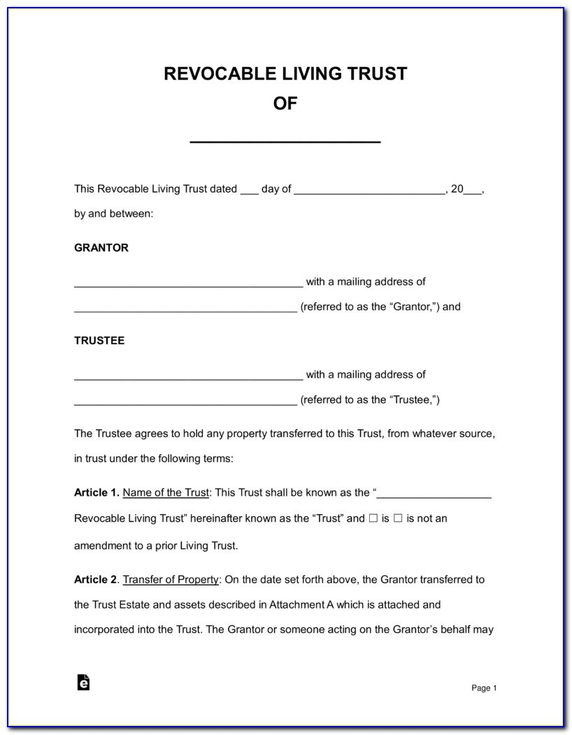 Revocable Trust Template