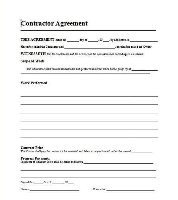 Roofing Contracts Templates
