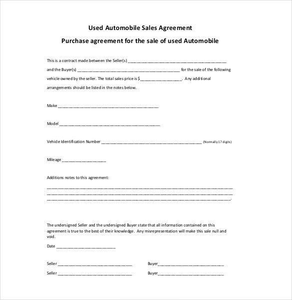 Sales Contract Template Word Unique Sales Agreement Template Word