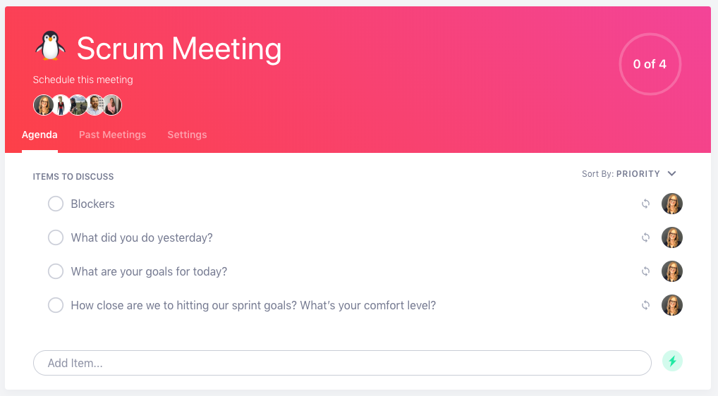 Scrum Meeting Agenda Template