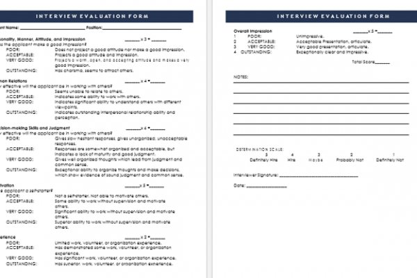 Self Assessment Employee Competency Assessment Template