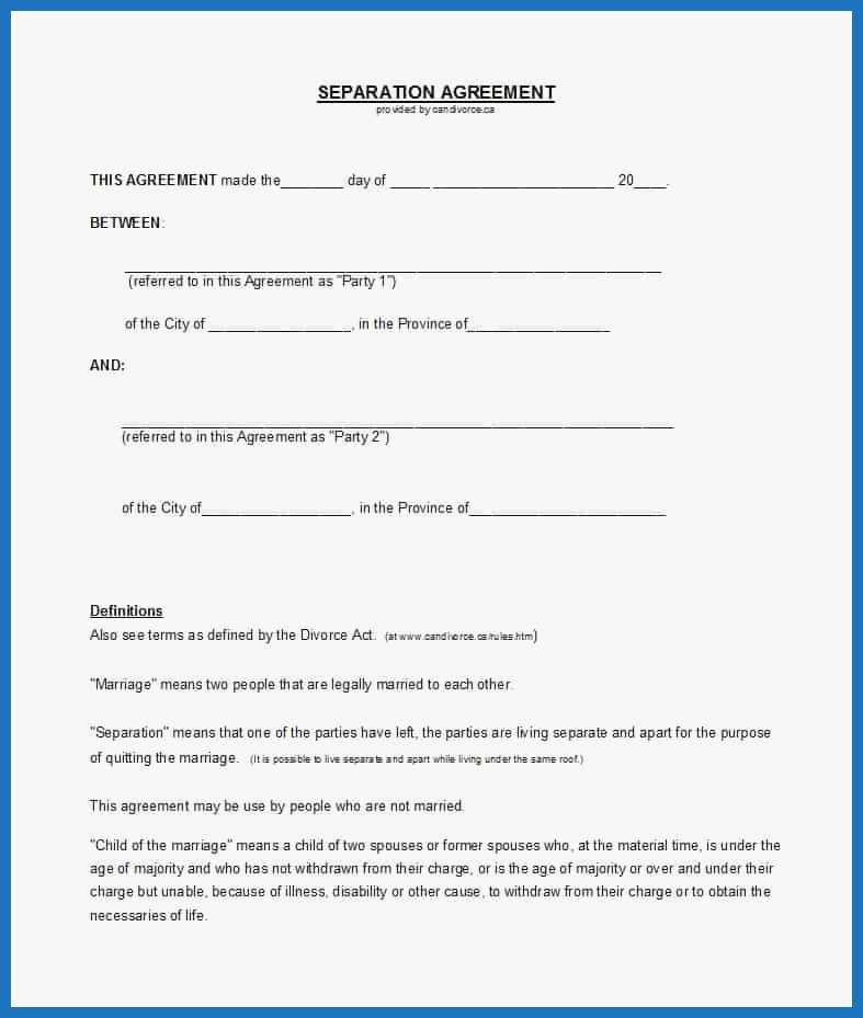 Virginia Separation Agreement Template Elegant 43 Ficial Separation Agreement Templates Letters