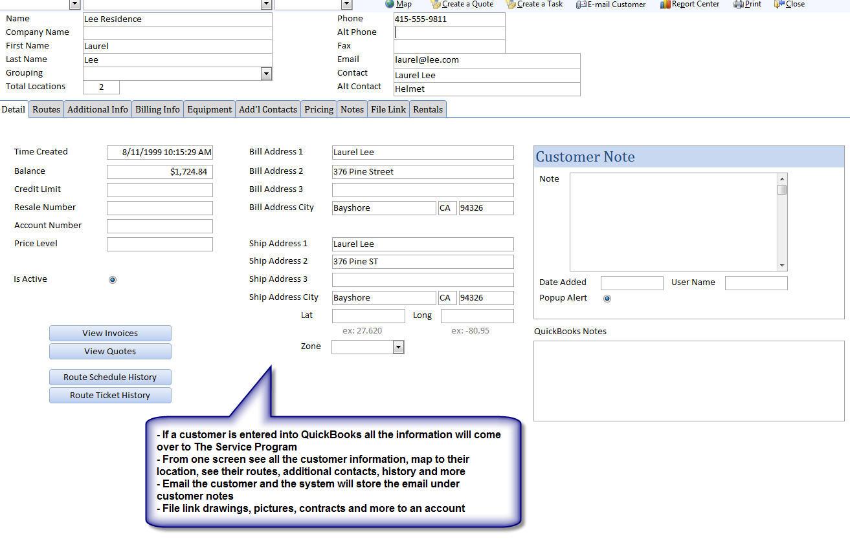 Service Invoice Template Quickbooks
