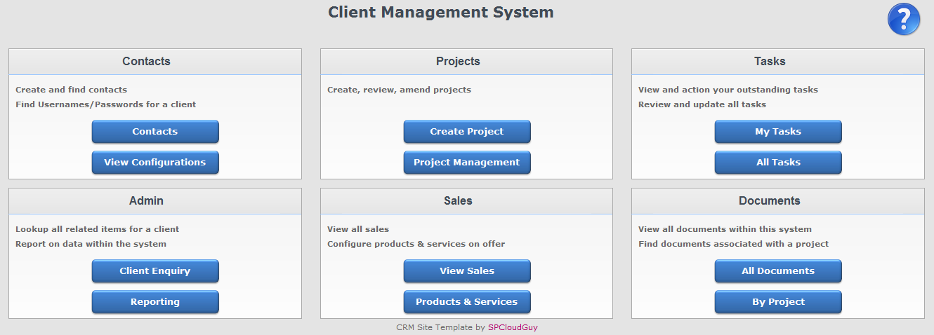 Sharepoint Crm Template