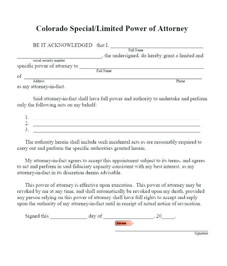 Simple General Power Of Attorney Template