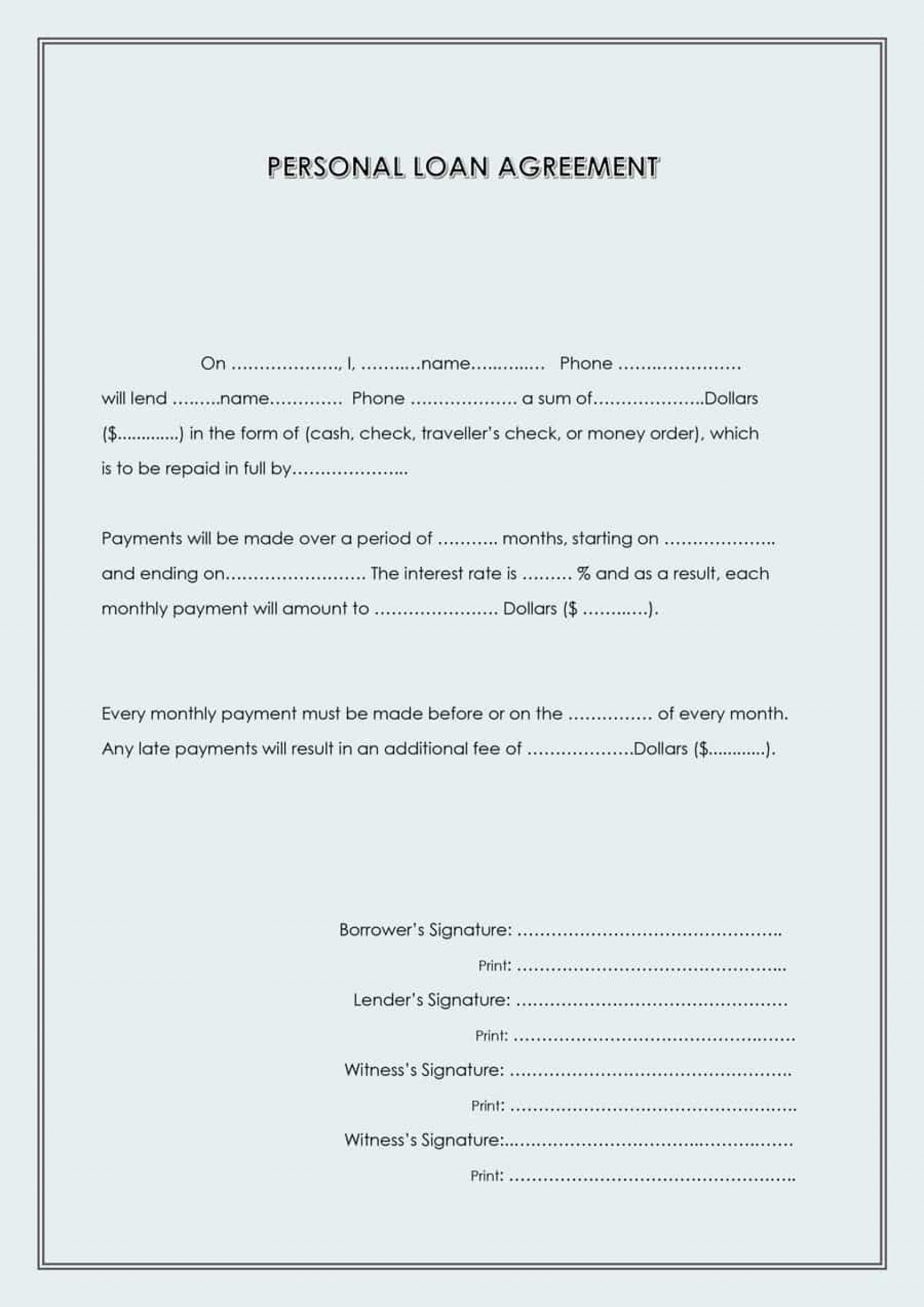 Simple Loan Repayment Template