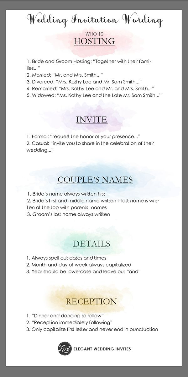 Simple Wedding Invitation Wording Templates