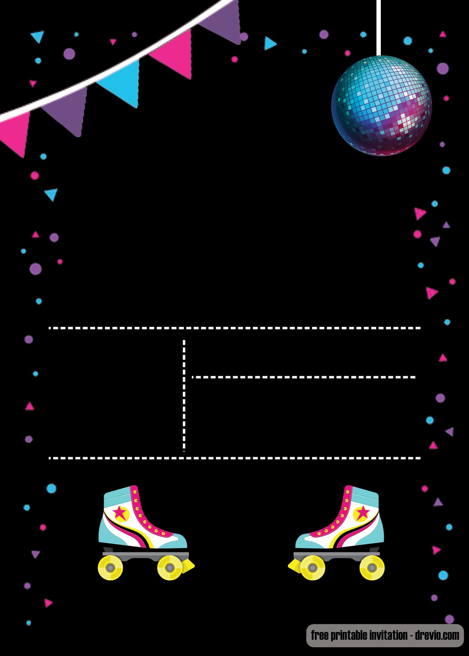 Skating Party Invitation Template Free