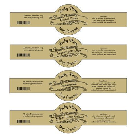 Soap Labels Template Free