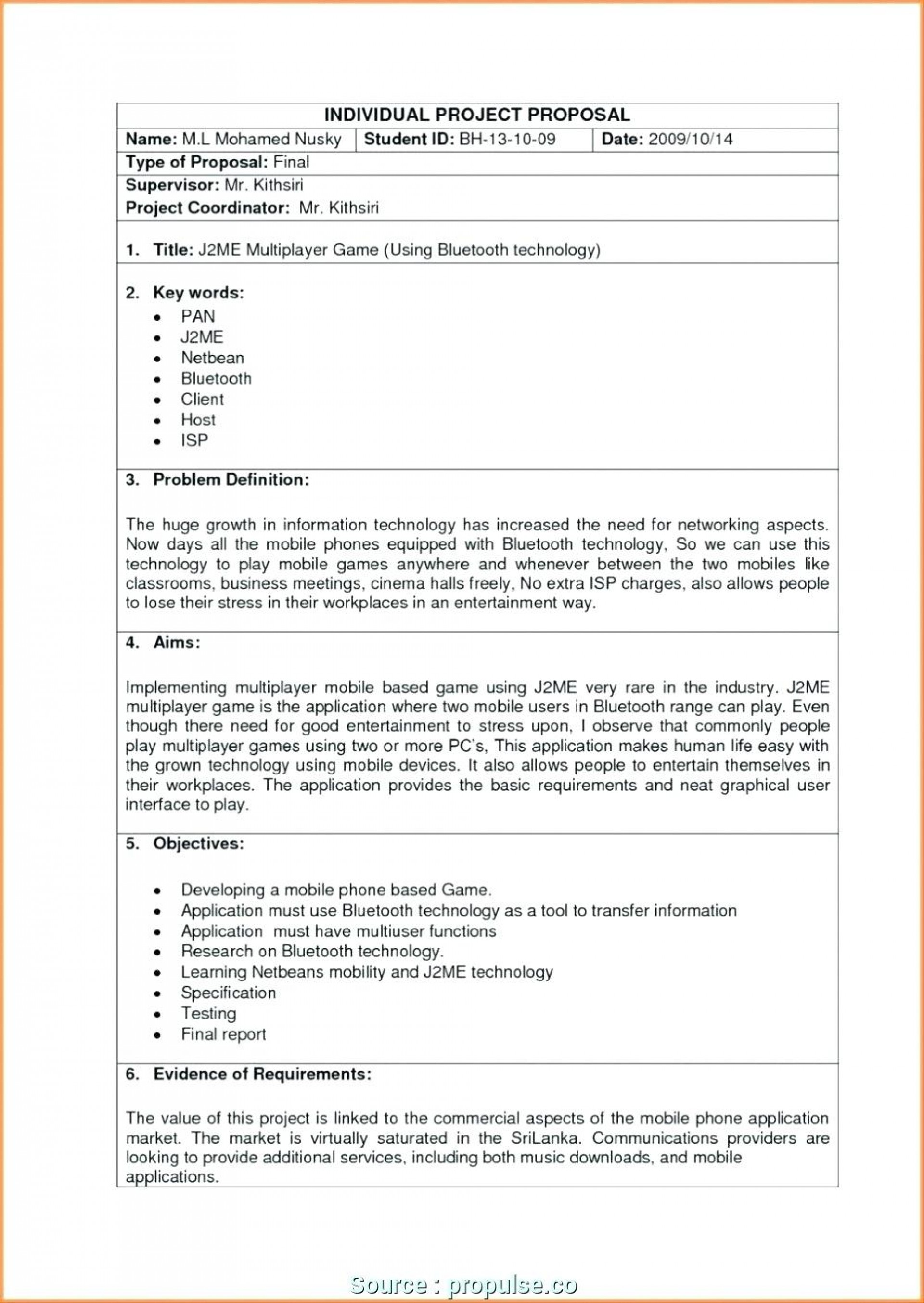 Software Development Proposal Template Doc