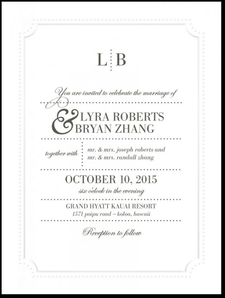 Spanish Wedding Invitation Wording Templates