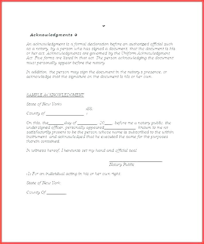 State Of Texas Notary Template