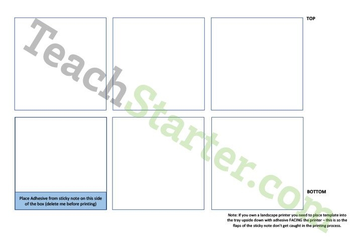 Sticky Note Printing Template