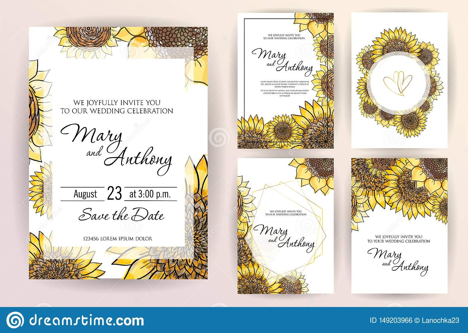 Sunflower Design Sunflower Invitation Template