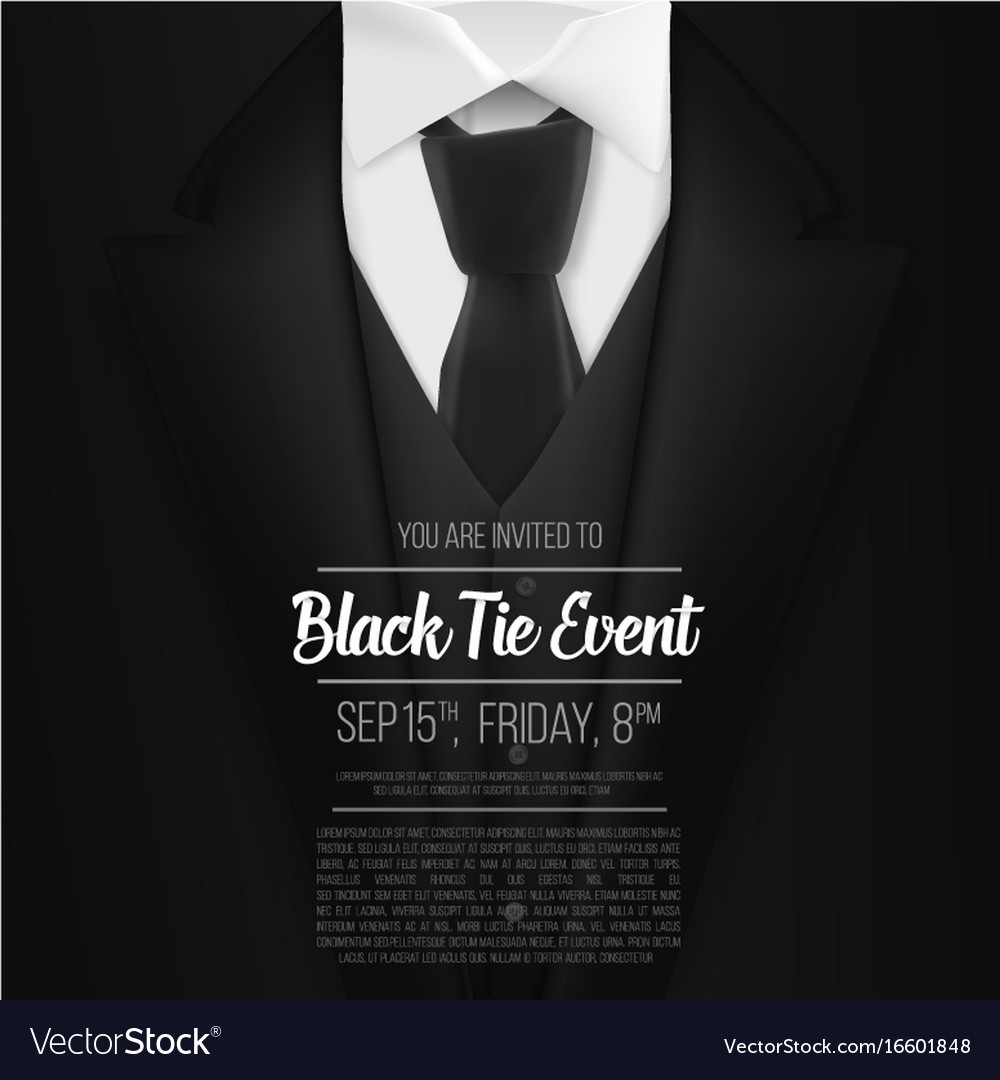 Template Black Tie Event Invitation