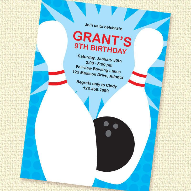 Template Bowling Party Invitations