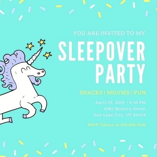 Template Boy Sleepover Invitations Free Printable