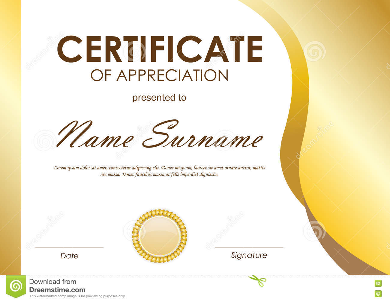 Template Certificate Of Appreciation Background