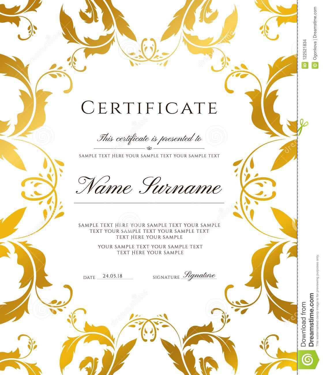 Template Certificate Of Appreciation Border Design