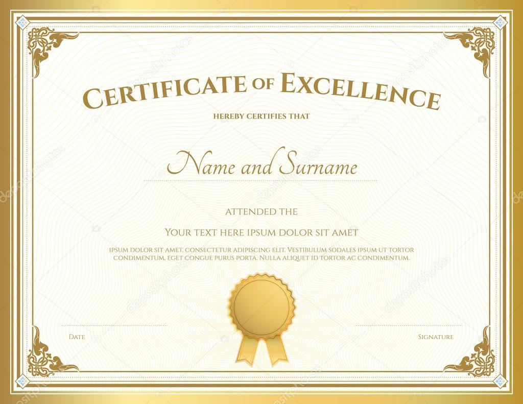 Template Certificate Of Appreciation Border
