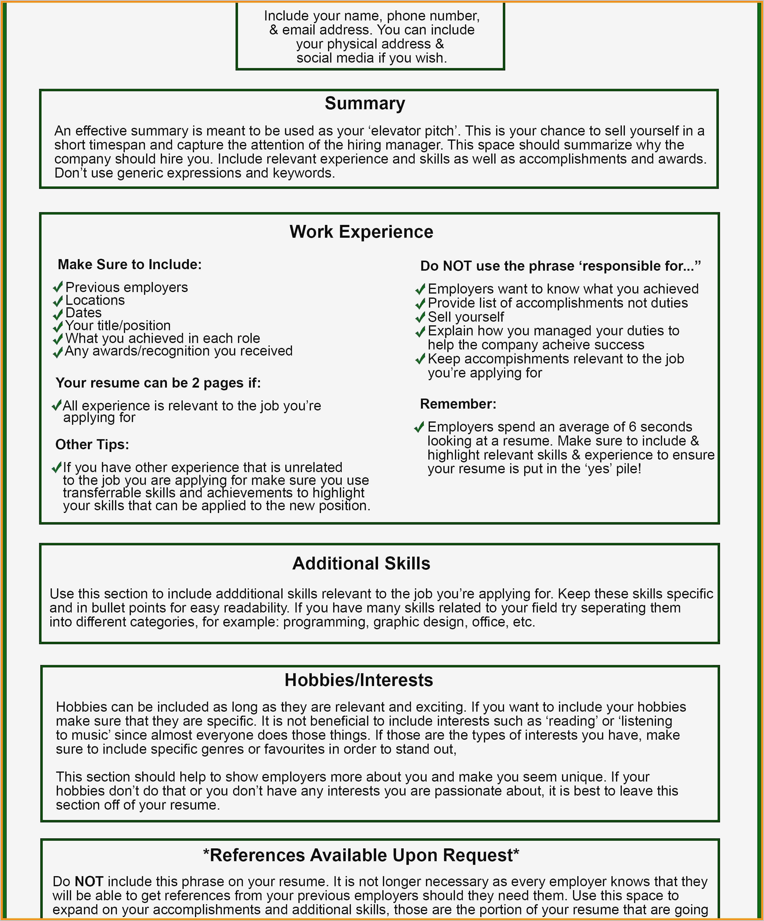 Best Template For Curriculum Vitae