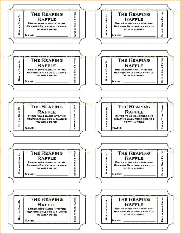 Template Free Downloadable Printable Raffle Tickets