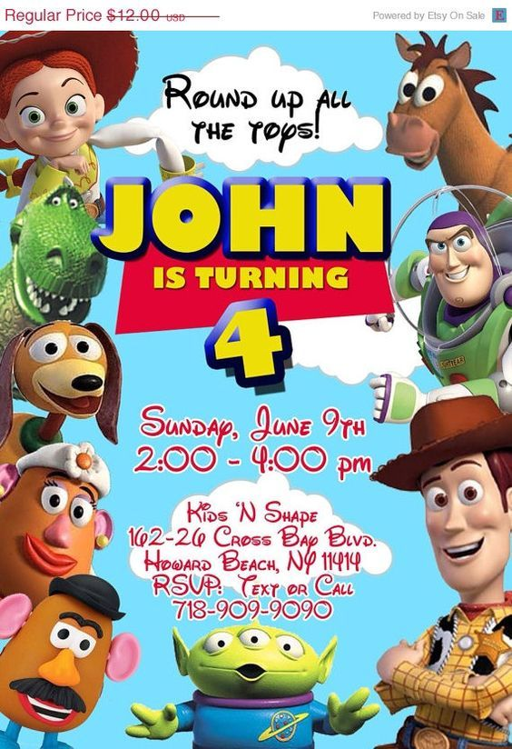 Template Free Free Personalized Toy Story Birthday Invitations
