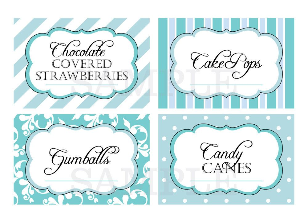Template Free Printable Candy Buffet Labels