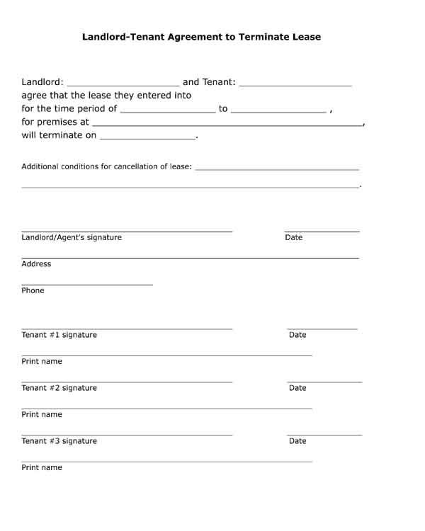Landlord Tenant Agreement Form Unique Free Printable Black And White Pdf Form Landlord