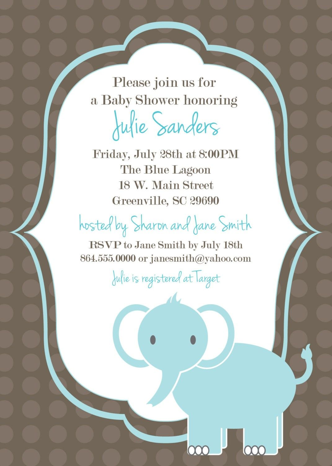 Template Printable Baby Shower Invitations