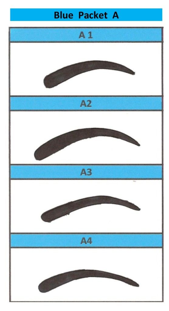 Template Printable Eyebrow Stencils Actual Size