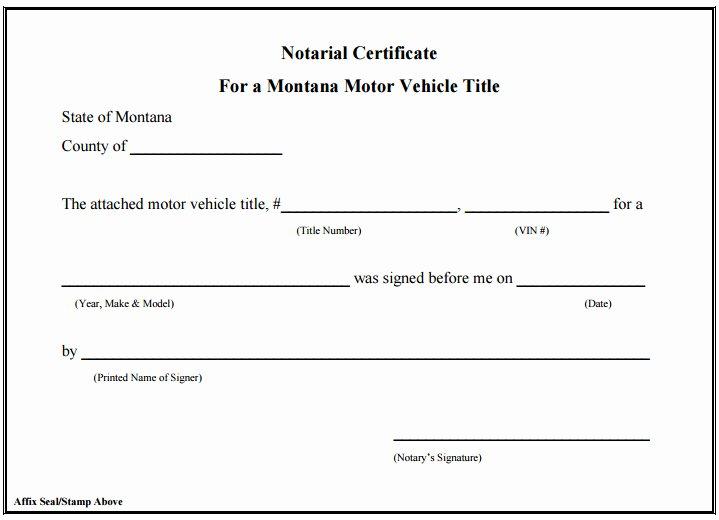 Template Texas Notary Signature Block